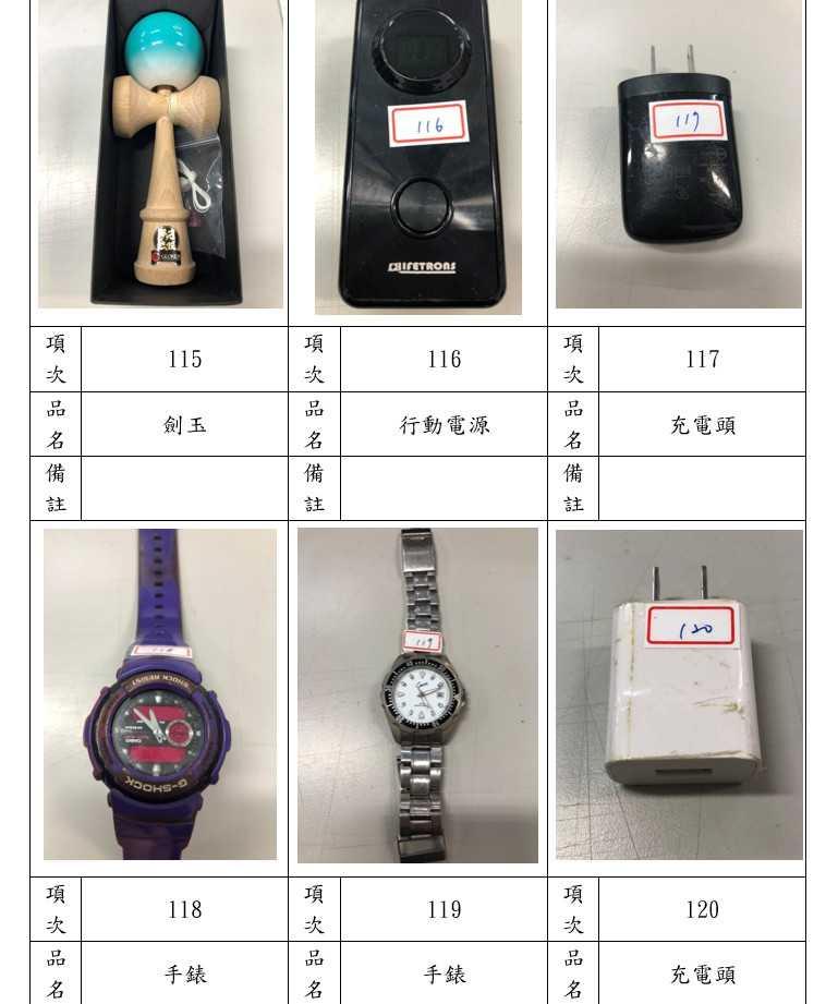 手錶、劍玉也被沒收。(圖/翻攝自辭修高中官網)