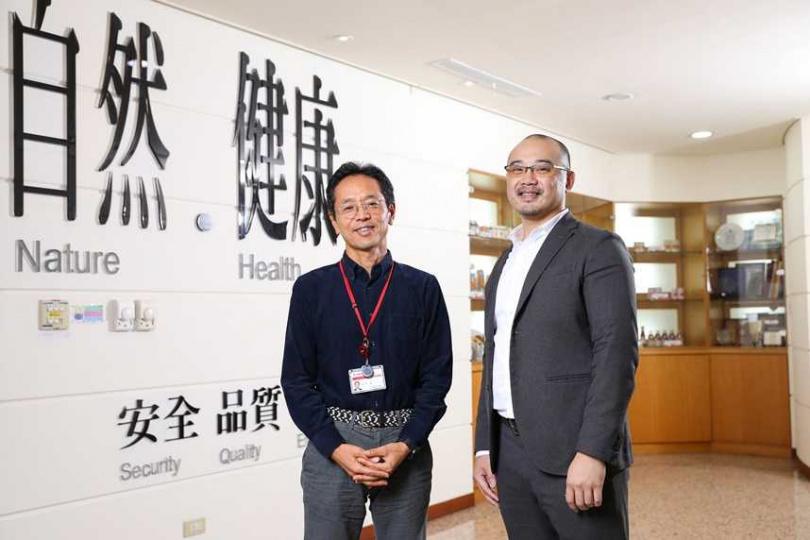 可果美重要的推手,董事長長田哲(圖左)與總經理林宮男。