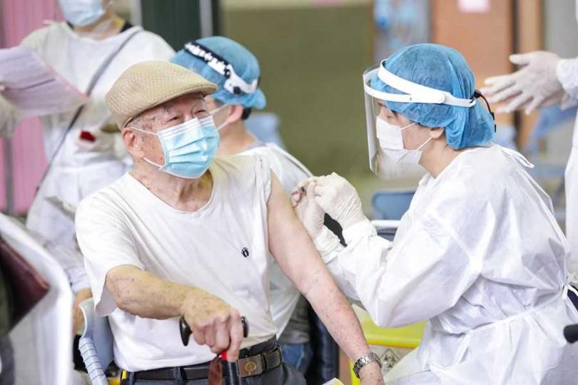 台中疫苗快打站運作情況。(圖/台中市政府提供)