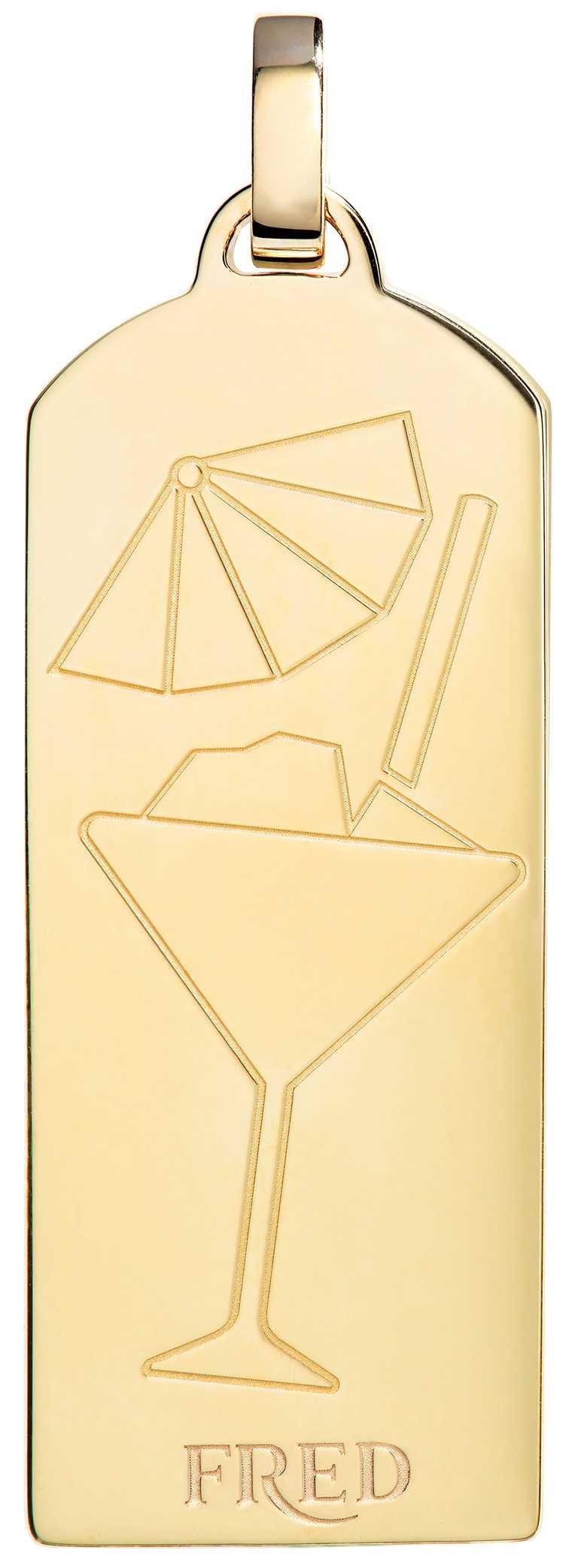 FRED「Riviera」系列,雞尾酒鑽飾黃金鍊墜(反面)╱282,700元。(圖╱FRED提供)