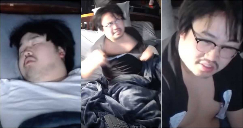 美國一名男網紅日前開直播睡覺過程,並開放網友抖內噪音吵醒他,沒想到隔天看到驚人金額,當場被嚇傻。(圖/YOUTUBE)