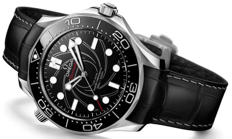 OMEGA「Seamaster海馬」系列潛水300米,詹姆士龐德限量版腕錶,42mm,鉑金錶殼,8807型自動上鏈機芯╱1,695,900元。(圖╱OMEGA提供)
