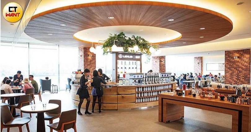 為了提升服務品質,和泰不惜砸下重金改造服務廠及展示中心,其中最有名的是LEXUS在台北市濱江路的五星級服務廠,有日系品牌咖啡搭配松山機場VIP景觀。(圖/張文玠攝)
