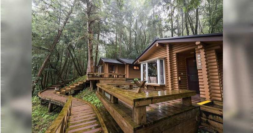 力麗明池渡假山莊木屋。