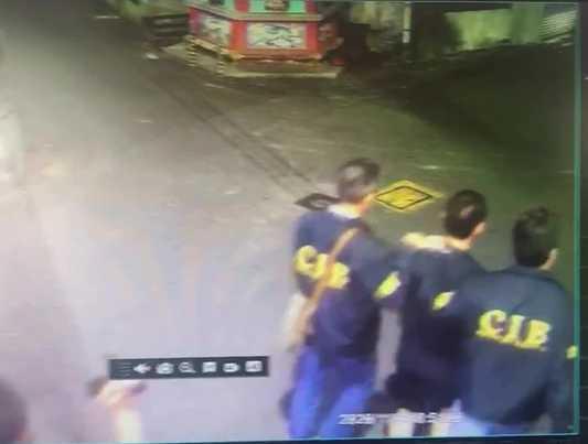 警方昨在彰化某宮廟將莊男逮捕。(圖/翻攝畫面)
