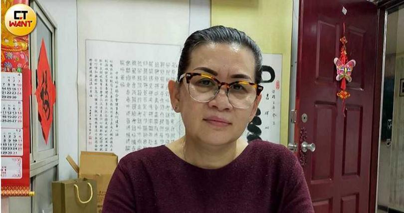 中華婦女聯合會理事長何建華說,李女慘遭殺害是遠嫁者的悲哀。(圖/謝中凡攝)