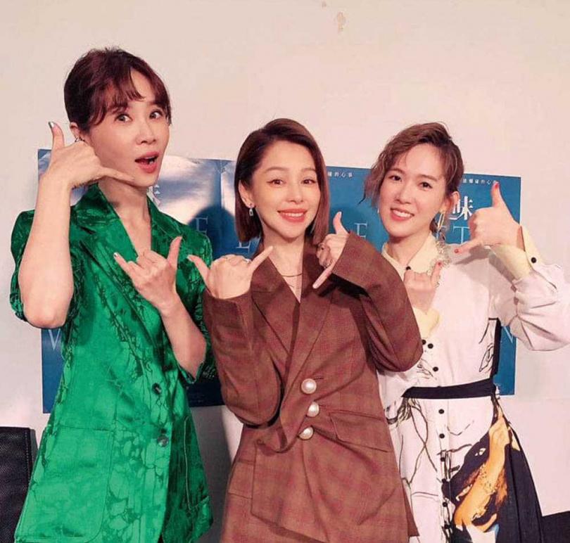 徐若瑄監製的電影《孤味》叫好又叫座,該片演員謝盈萱(左)也入圍金馬獎最佳女配角獎。(圖/翻攝自徐若瑄臉書)