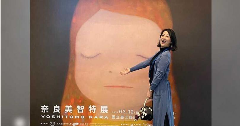 吳思瑤常在粉絲團推廣分享藝術展覽訊息,但如今她提的修法,卻是讓「收藏家掮客吃肉,藝術家只能喝白開水」。(圖/翻攝吳思瑤臉書)