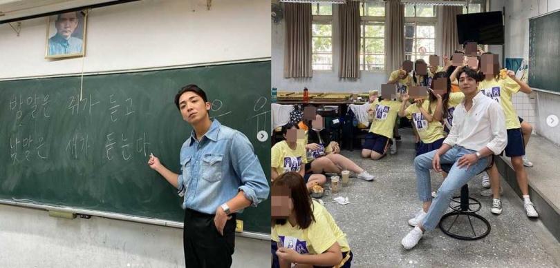 30歲的韓國歐巴金炳秀擁有超高顏值,在台中教韓文,被學生封為「天菜老師」爆紅。(圖/翻攝自金炳秀IG)