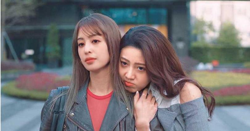 黃薇渟在《戀愛是科學》飾演莫允雯的閨密,角色性感豪放。(圖/翻攝自黃薇渟臉書)