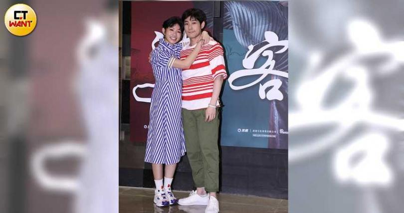 李千那與施易男主演第一單元「梁山伯與祝英台」。(攝影/彭子桓)
