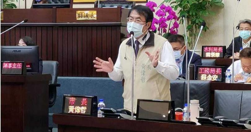 台南市長黃偉哲答詢時,明確表示支持死刑。(圖/洪榮志攝)