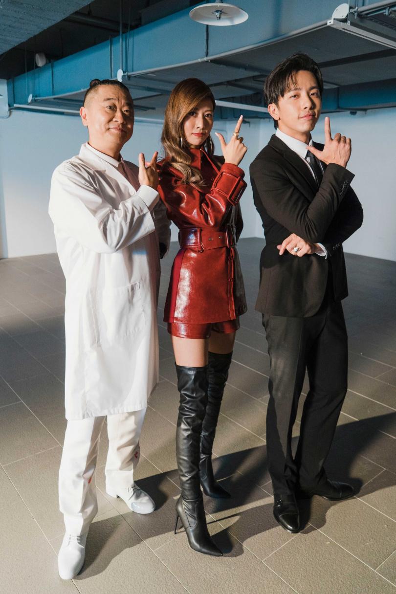 阿部瑪利亞(中)推出首支中文單曲,MV找來邰智源(左)、謝坤達跨刀演出。(圖/麥卡貝網路電視提供)