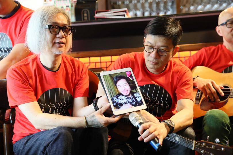 黃國倫因赴上海工作僅能以視訊連線方式現身記者會。(圖/因為愛琴提供)