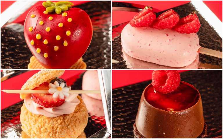 造型可愛的莓果甜點。 (圖/台南大員皇冠假日酒店提供)