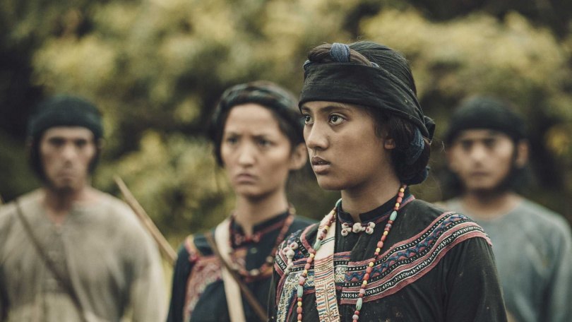 《斯卡羅》程苡雅13歲時參加族語朗讀比賽,被導演曹瑞原一眼相中邀請參與演出。(圖/公視)