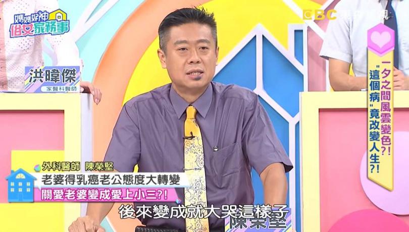 陳榮堅在節目分享個案。(圖/翻攝自媽媽好神之俗女家務事YouTube頻道)