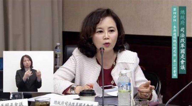 北市府市政顧問謝明珠身兼總統府司改委員,傳出9月將任職市長室主任。(圖/謝明珠臉書)