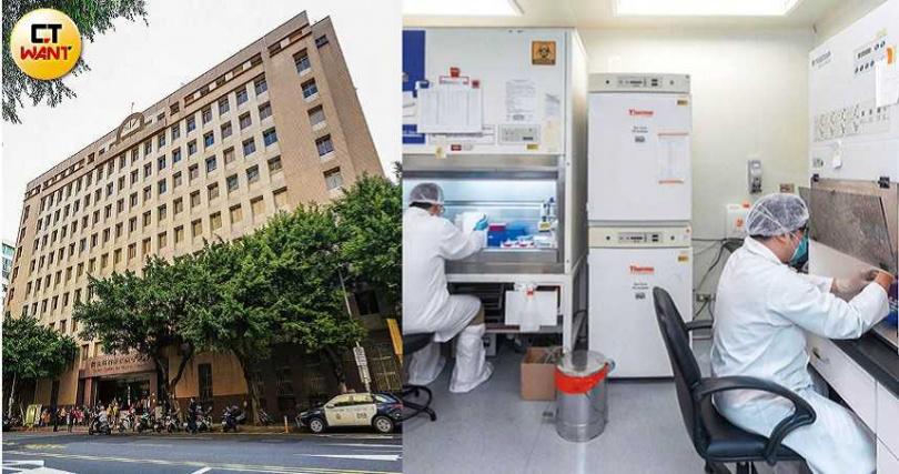 受衛福部疾管署委託的國家實驗室昆陽辦公室(右圖),正加速比對新冠病毒株基因定序。(圖/焦正德攝、總統府提供)