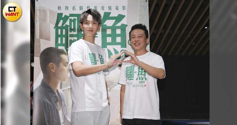 柯震東和李康生在片中有多場對手戲。(圖/趙文彬攝,下同)