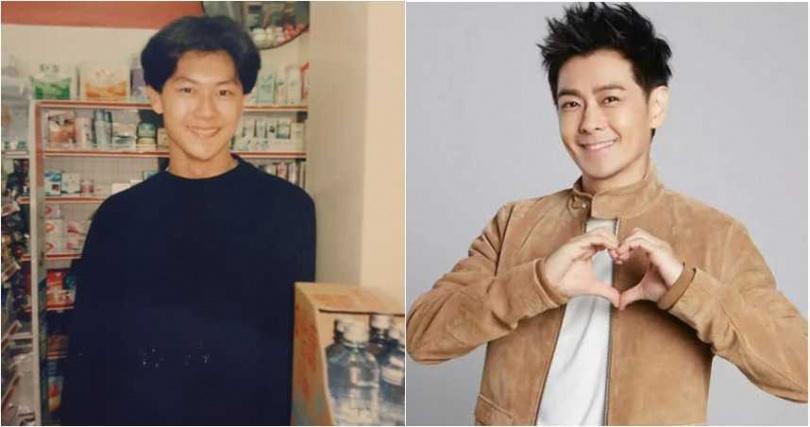 本土劇演員王燦,分享自己高中時的清純帥照,模樣有點像林志穎。(圖/翻攝臉書、百度百科)