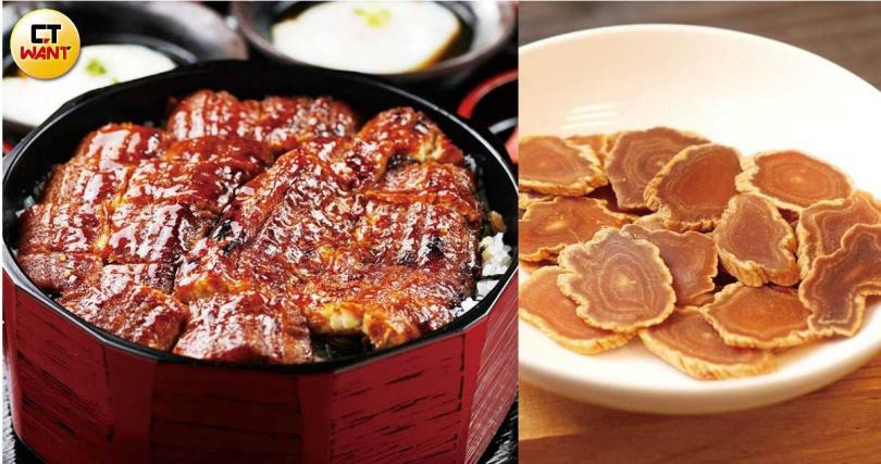 鰻魚飯或少量人蔘片都是補氣的好食材,有助於疏散體內暑熱。(圖/于魯光攝、翻攝自人蔘保健知識庫網站)