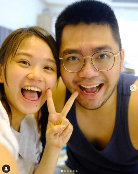 陳彥婷2020年和巨人結婚,婚後育有1子。(圖/翻攝自Instagram/thetiffanychen)