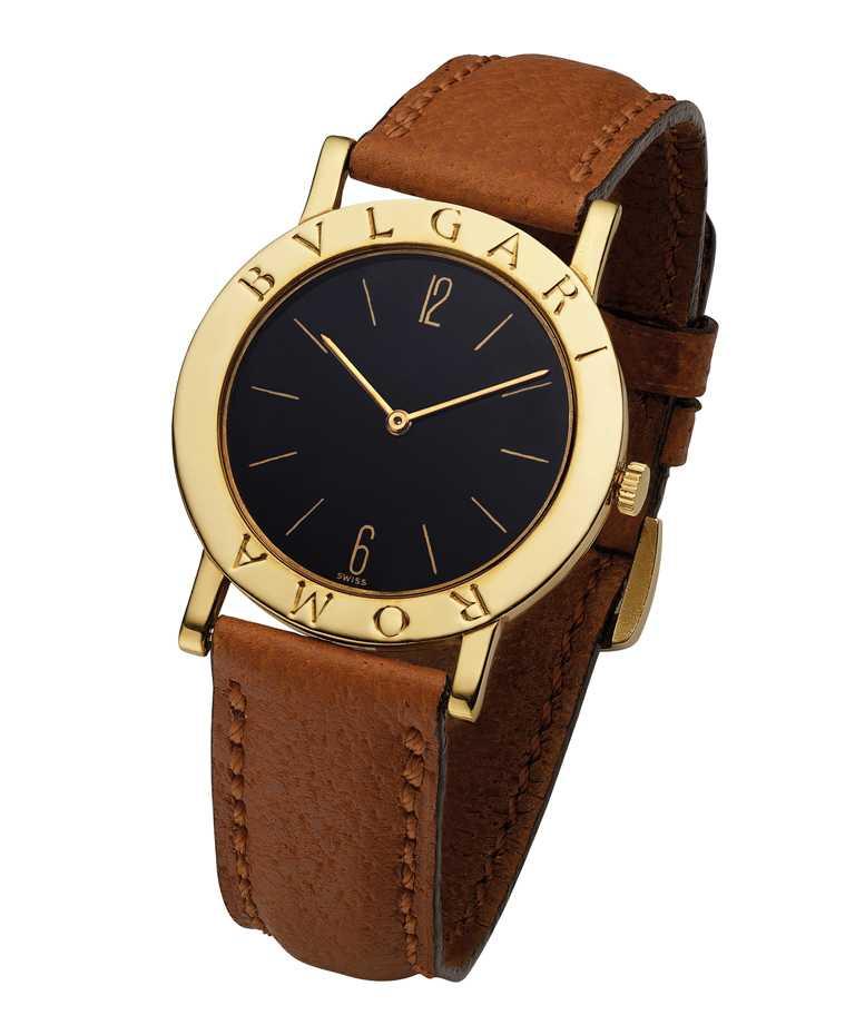 1977年,寶格麗推出首款「BVLGARI BVLGARI」自動腕錶。(圖╱BVLGARI提供)