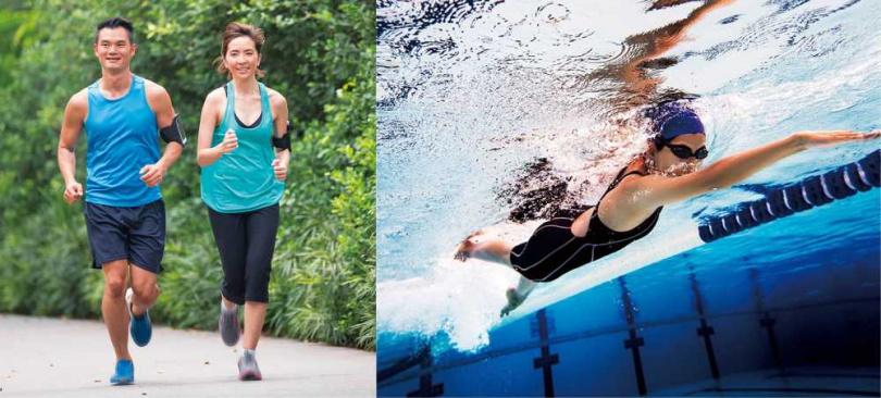 進行斷食法時,若能搭配運動、游泳,燃脂效果會更好。(圖/123RF)