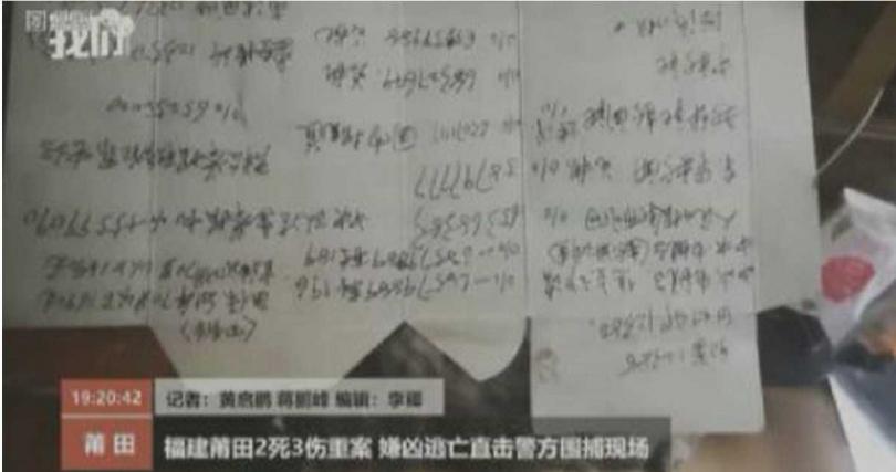 嫌犯在菸盒上寫滿各機關單位及媒體的投訴求助電話。(圖/翻攝微博)