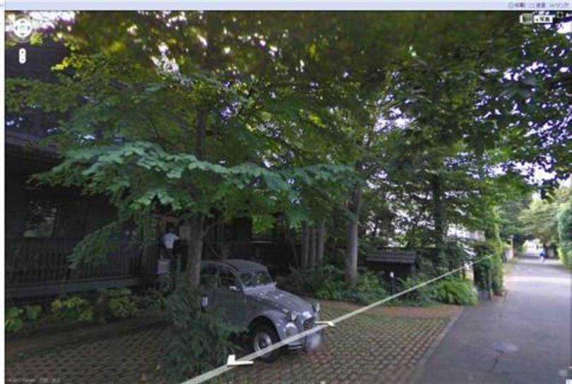 過去有網民在Google Street發現宮崎駿正要走進畫室的身影。(取自網路)