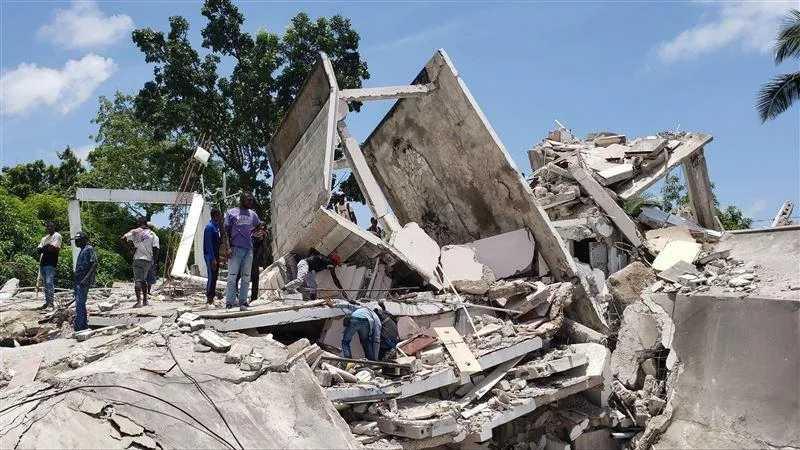 海地地震。(圖/達志/美聯社)