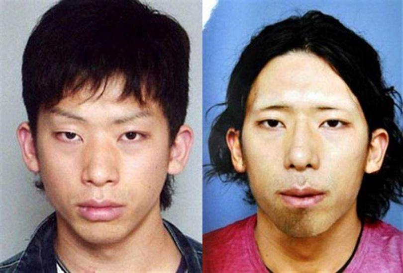 強姦殺人通緝犯市橋達也,逃亡期間自己DIY整形,被捕後容貌(左)迷到一票日本妹。(圖/報系資料照片)