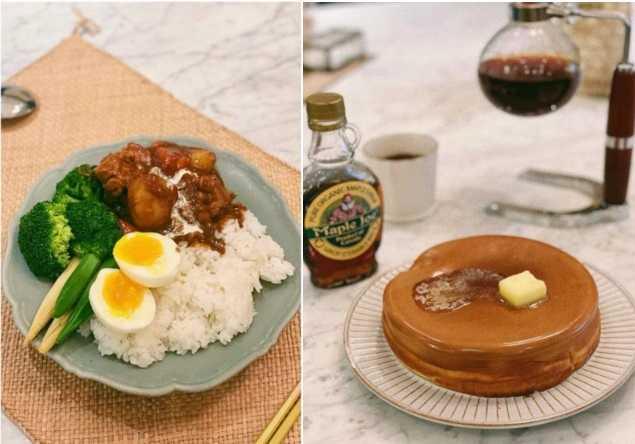 防疫期間,田馥甄都在家裡鍛鍊廚藝。(圖/翻攝自田馥甄臉書)