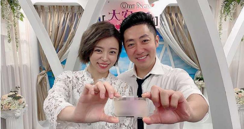 艾成與王瞳去年7月28日登記結婚。(圖/民視提供)