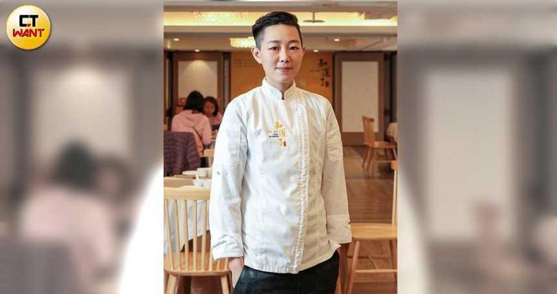 點主廚呂瀞瑩雖年輕但底子厚,做出工細味美的港式素點。(圖/馬景平攝)