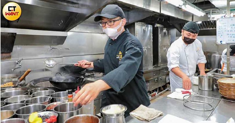 中餐主廚徐彬是素食界實力派新生代,既有創意又有實力。(圖/馬景平攝)