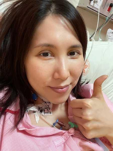 余苑綺只能化療,肺部無法再動手術。(圖/翻攝自余苑綺臉書)