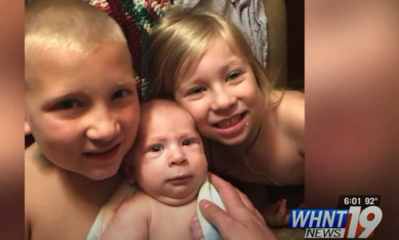,3名同父異母的妹妹和弟弟。(圖/翻攝自WHNT19 News)