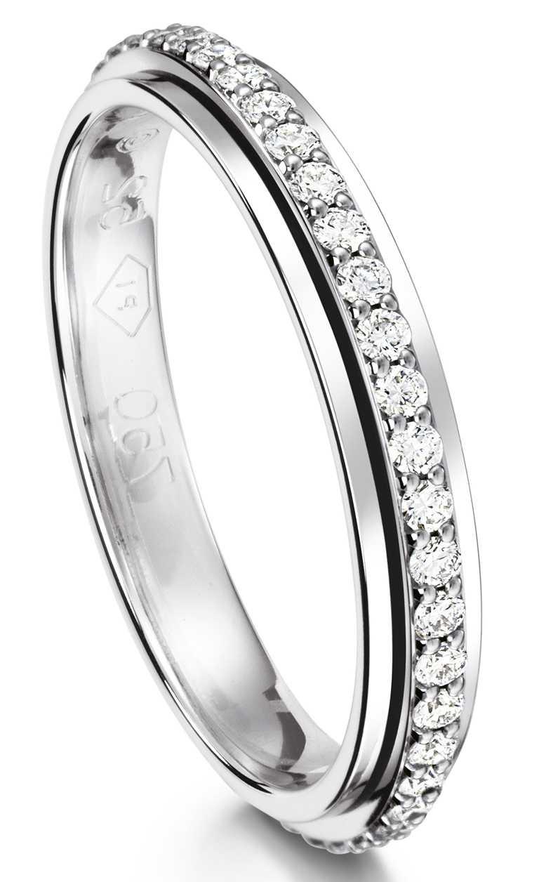 PIAGET「Possession」系列18K白金鑲鑽戒指╱133,000元。(圖╱PIAGET提供)