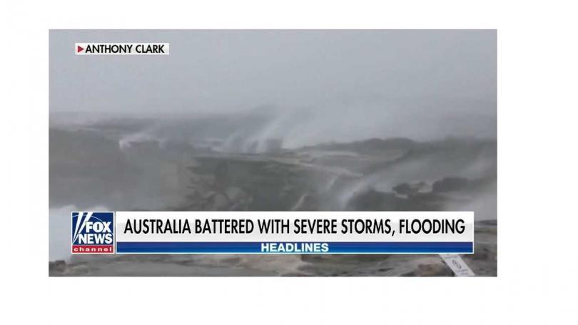 雪梨30年來最大規模暴雨,10多萬戶斷電。(圖/FOX News)