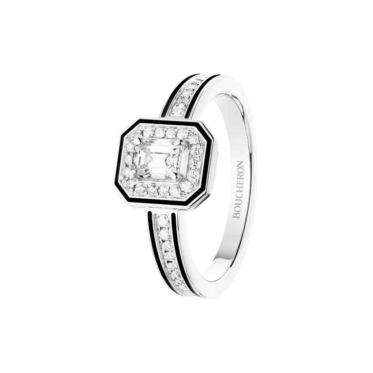 BOUCHERON「LISERÉ」系列珠寶,白金鑲鑽戒指╱227,000元。(圖╱BOUCHERON提供)