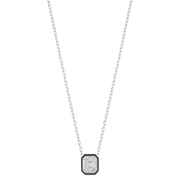 BOUCHERON「LISERÉ」系列珠寶,白金鑲鑽項鍊╱202,000元。(圖╱BOUCHERON提供)