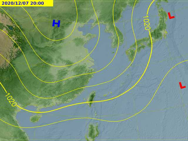 7日天氣預測圖。(圖/中央氣象局)