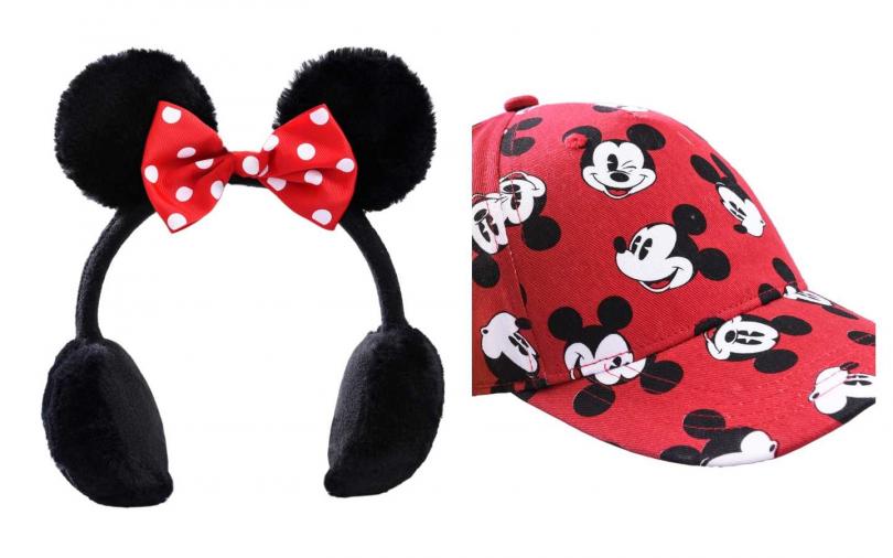 H&M 2020新春系列童裝米妮髮箍/349元;H&M 2020新春系列童裝米奇棒球帽/199元。(圖/品牌提供)