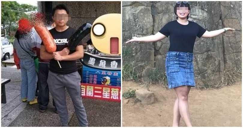 梁姓兇嫌(左)勒殺女大生(右)。(圖/翻攝自爆料公社)