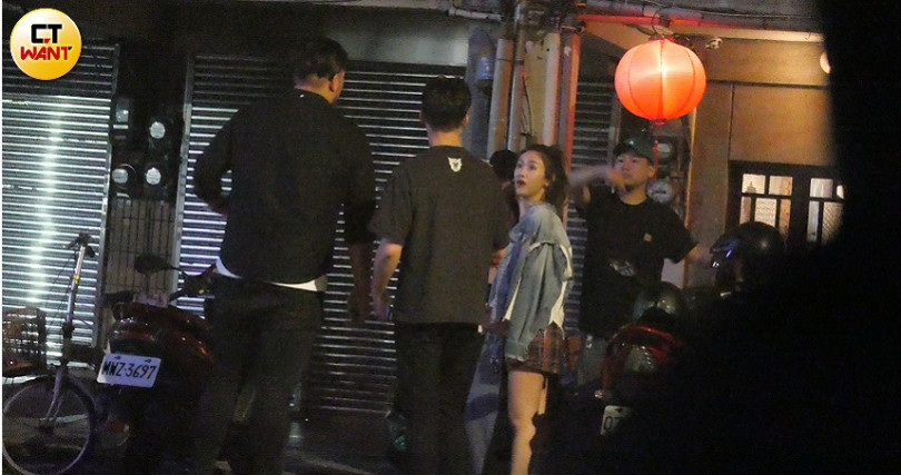 吳姍儒與CEO男友一同出席朋友聚會,當兩人站在一起立刻呈現「最萌身高差」。(圖/本刊攝影組)