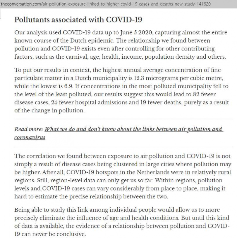 研究顯示空汙使民眾平均壽命少2年,威脅更甚新冠肺炎!(圖/The Conversation)