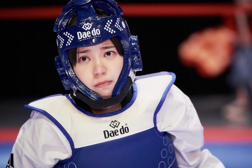 郭雪芙劇中飾演跆拳道高手角色。(圖/八大提供)