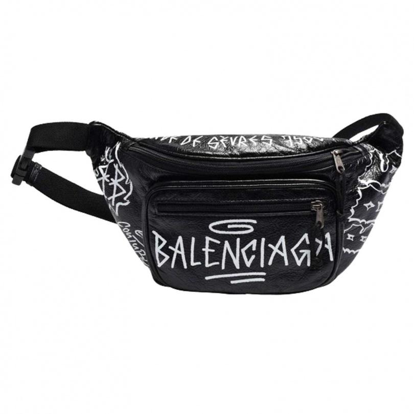 BALENCIAGA塗鴉腰包/43,800元(已絕版)(圖/戴世平攝)